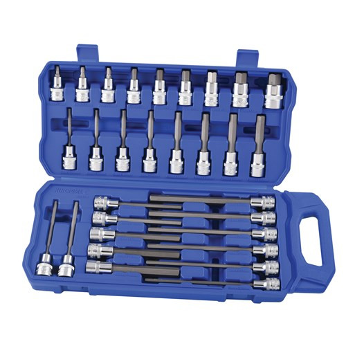Kincrome K2124 Mega Hex Socket Set 30 Pce 1/2 Drive Metric