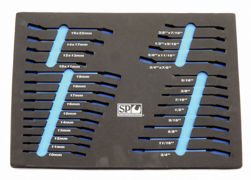 SP50920 SP TOOLS Flare & Geardrive Spanner EVA Foam Tool Storage System
