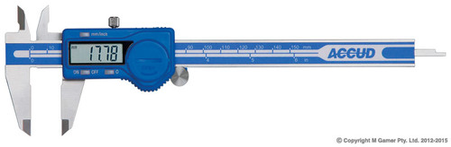 "Accud 150mm (6"") LCD Digital Vernier Caliper AC11100612"
