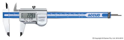 "Accud Coolant Proof 1P67 8"" (200mm) Digital Vernier AC-112-008-12"