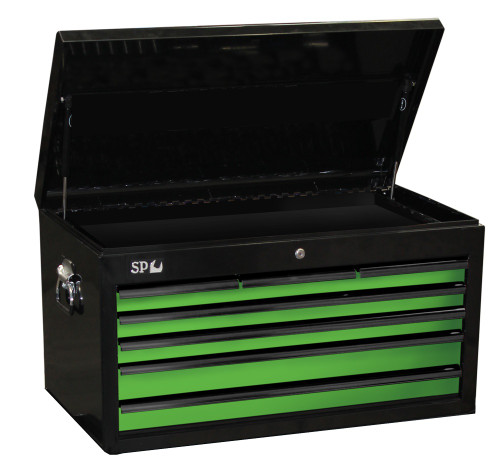 SP40122 SP Tools 7 Drawer Sumo Series Tool Box Black Green