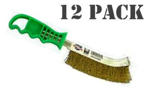 Medalist Brass Plated Wire  Brush 12 Pack.