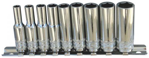 SP20141 SP TOOLS 1/4DR DEEP 6PT 9PC AF ON SOCKET RAIL