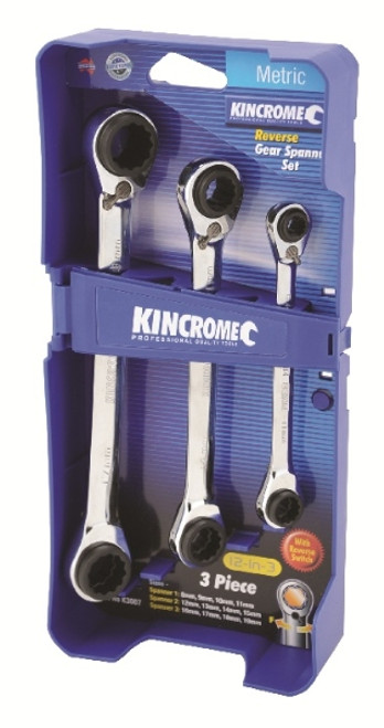 Kincrome 12-in-3 Reverse Gear Spanners Metric K3007.