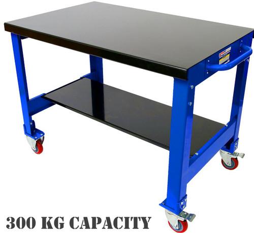 Tradequip Mobile Steel Workbench