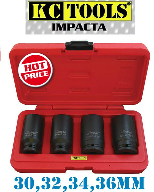 "KC 4PCE 1/2""DVE  LARGER SIZED DEEP IMPACT SET METRIC."