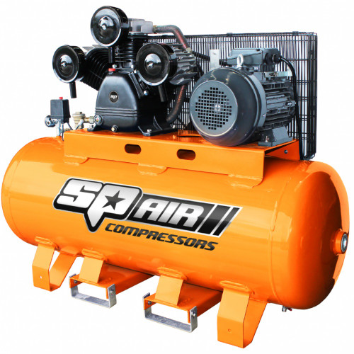 SP 5.5HP TWIN CAST ELECTRIC STATIONARY AIR COMPRESSOR