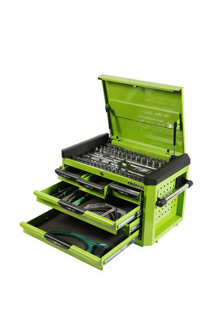 Typhoon 6 Drawer, 188pce AF & Metric Toolkit Green