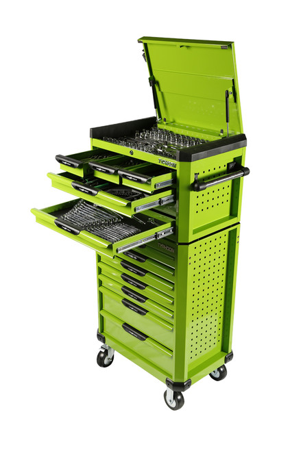Typhoon 13 Drawer Mega 398pce AF & Metric Toolkit Green