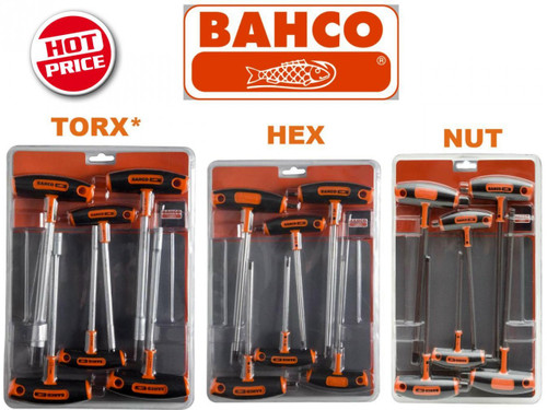 Bahco T Handle Drive Nut Hex Torx* Multi Pack.