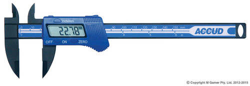"Accud 150mm (6"") Light Weight Digital Vernier Caliper"