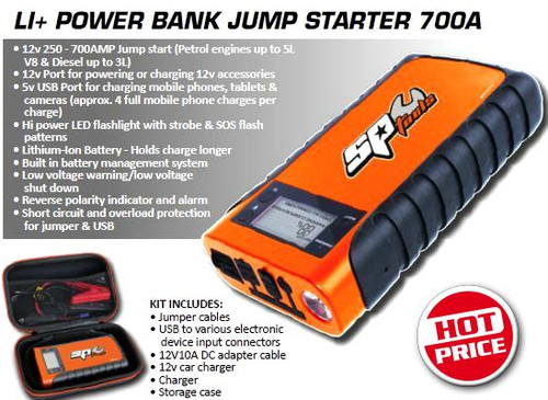 SP Tools LI+ Power Bank Jump Starter 700A