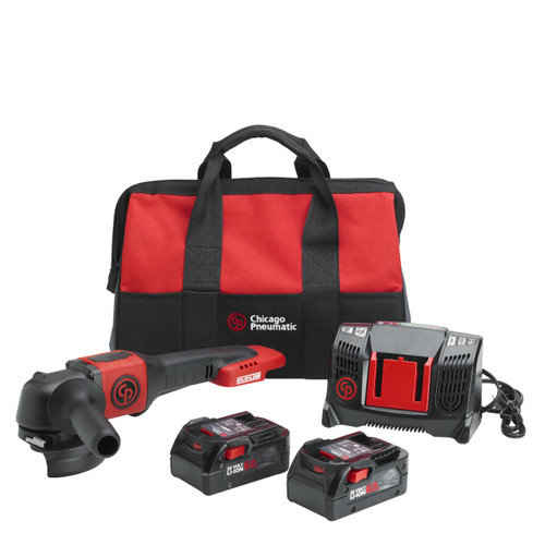 New Chicago Pneumatic Angle Grinder Kit With 2 x 6.0Ah Batteries