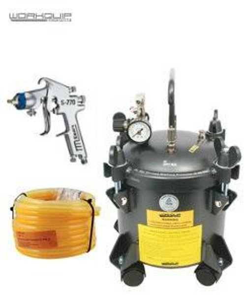 WORKQUIP 10 LTR PRESSURE POT KIT NON AGITATION WITH S770 2.5MM GUN