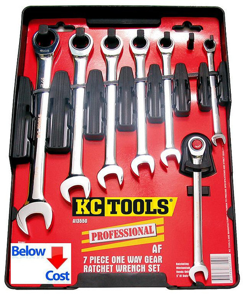 KC Tools 7pce AF Gear Spanner Set. Never again price