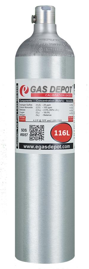Hydrogen Sulfide (H2S)-Calibration Gas (4 gas mixtures)