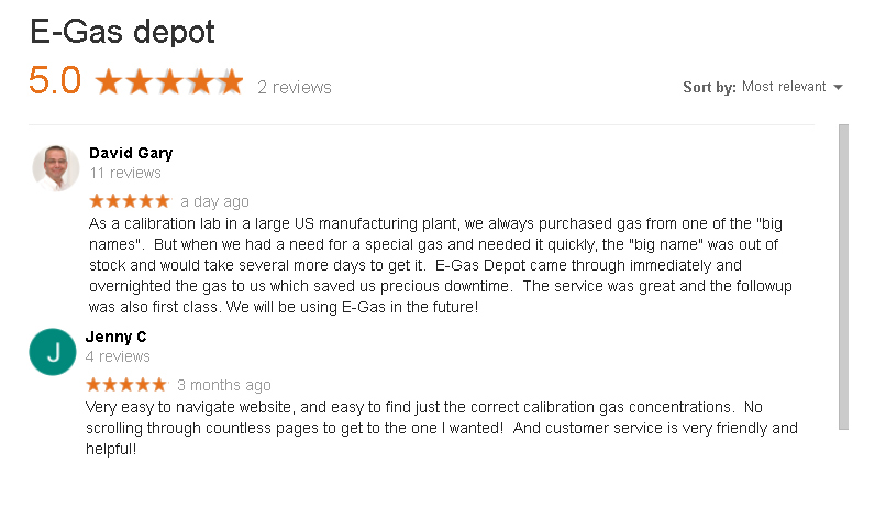 Google reviews of egas depot