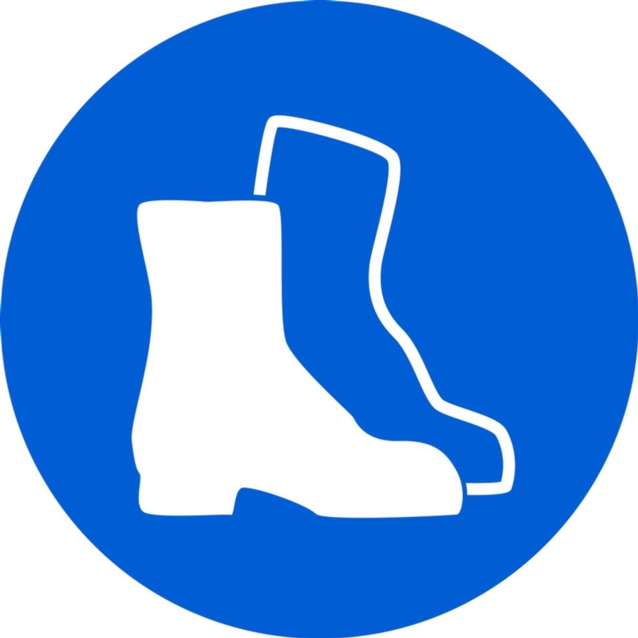 Iso Mandatory Safety Sign Wear Foot Protection Sign Plastic 6