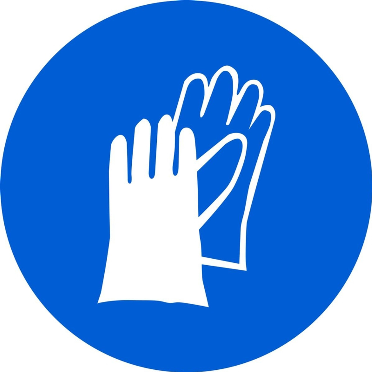 Iso Mandatory Safety Sign Wear Hand Protection Sign 040 Aluminum