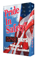 Outdoor Electronic Safety Scoreboard- Digi Day Plus- Pride in Safety SCM319