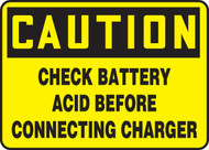Caution - Check Battery Acid Before Connecting Charger