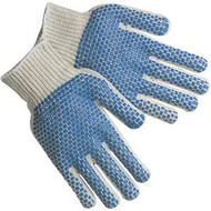 Work Gloves - PVC Dot Gloves 2 Sided Large (DZ)