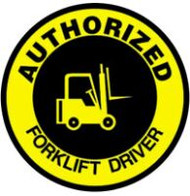 Authorized Fork Lift Driver Hard Hat Decal 10/pack