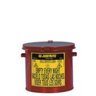 Justrite Oily Waste- Yellow Can 2 Gallon Countertop