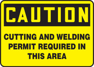 Caution - Cutting And Welding Permit Required In This Area