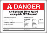 Danger Arc Flash And Shock Hazard Appropriate Ppe Required Incident