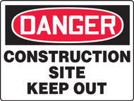 MCRT112XAW Danger Construction Site Keep Out Big Safety Sign