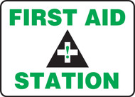 first aid station sign MFSAD08BVP