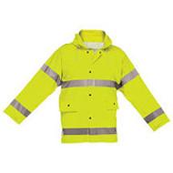 Reflective Rain Jacket Short - Lime- Large