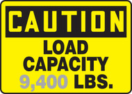 Caution - Load Capacity ___ Lbs. 1