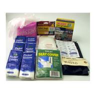 Sanitation Kit for Portable Toilet Kit- 55 piece kit ( 4 kits per order)