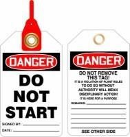 Danger Do Not Start Loop n Lock Safety Tags