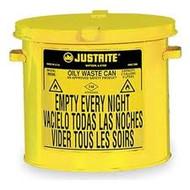 Countertop Yellow Oily Waste Can- 2 Gallon Countertop