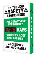 Outdoor Safety Scoreboards Digi Day Plus- On the Job Safety Begins SCM302