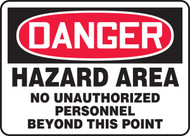 Danger - Hazard Area No Unauthorized Personnel Beyond This Point
