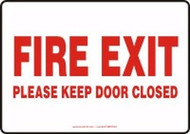 Fire Exit Please Keep Door Closed