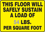 This Floor Will Safely Sustain A Load Of ___ Lbs. Per Square Foot 1