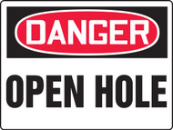 MCSP183 Danger Open Hole Safety Sign