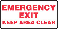 Emergency Exit Keep Area Clear 1