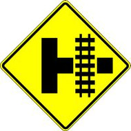 "Side Road Parallel Railroad Crossing Railroad Sign 30"" X 30"" Engineer Reflective"