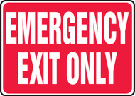 Emergency Exit Only Sign RED