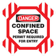 Manhole Cross Barrier- DANGER CONFINED SPACE PERMIT REQUIRED FOR ENTRY