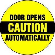 Door Opens Automatically Sign