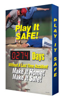 Outdoor Safety Scoreboard-Digi Day Plus  Play It Safe! Baseball Theme Safety Scoreboard SCM326