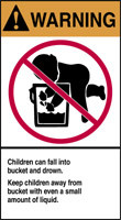 Children Can Fall Into Bucket And Drown. Keep Children Away