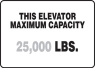 This Elevator Maximum Capacity ___ Lbs.